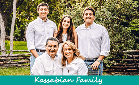 Dr Kassabian and his family